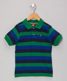 Take a look at this Green Stripe Piqué Polo - Boys by IZOD on #zulily today!