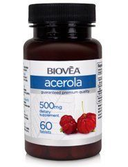 ACEROLA (Organic) 500mg 60 Tablets by BIOVEA. $10.95. An Effective Antioxidant. Supports Healthy Cardiovascular Function. Strengthens the Immune System. May Benefit Coronary Artery Disease. Supports the Respiratory System. What is Organic Acerola?  Acerola (Malpighia glabra) or Acerolla, also known as Barbados cherry or wild crapemyrtle, is a tropical fruit-bearing shrub or small tree in the family Malpighiaceae. It ranges from southern Texas south through Mexico and the Caribb...