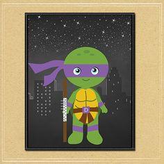 Teenage Mutant Ninja Turtles Donatello Wall by NineLivesNotEnough