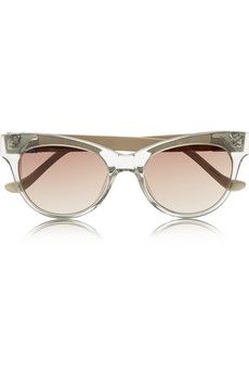 48a6d6c3a8b The Row Cat eye acetate and leather sunglasses