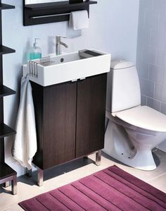 Bathroom decoration idea -- thin vanity for master bath to save room