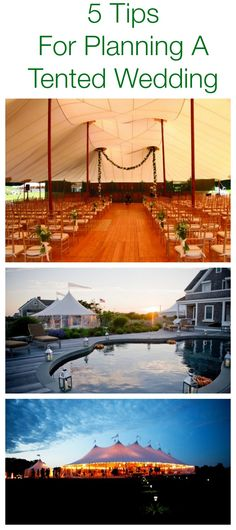 Tips For Planning A Tented Wedding! A must read for anyone planning a wedding in a tent.