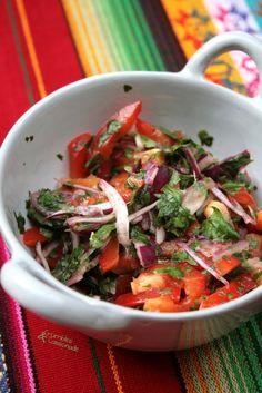Crumbles et Cassonade: Salsa criolla - Pérou