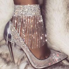 European Tassel Plain Anklets the world of shoes, offers all kinds of high quality women shoes and mens shoes. Sterling Silver Anklet, Silver Anklets, Pumps Heels, Stiletto Heels, Sexy Heels, Wedding High Heels, Bare Foot Sandals, Aliexpress, Fashion Shoes