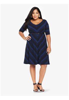 f948d09a355 Mitered Stripe Raglan Dress Plus Size Clothing Sale