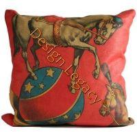 Circus - Balancing Horses Pillow