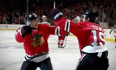 it's not a BHTV video without Kane and Toews jumping in each others' arms
