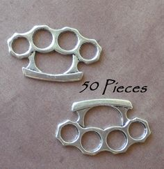 50 Tibetan Silver Brass Knuckle Duster Pendant Charms