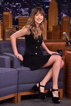 "January, 29th: More photos of Dakota on ""The Tonight Show"" with Jimmy Fallon #DakotaJohnson"