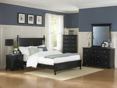 Homelegance Morelle Bedroom Set - Black - The warmth of cottage living is invoked by the classic styling of the Morelle Bedroom Collection by Homelegance. The collection is designed with many features perfect for today's casual lifestyle such as a low post bed with simple picture framing and round finials plus molded drawer fronts and satin nickel knobs on the case pieces.
