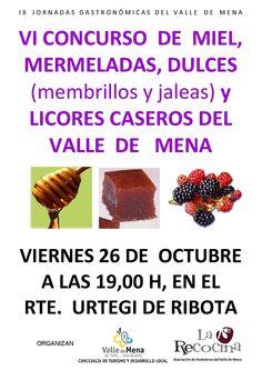 Gastronomía en Valle de Mena, Merindades. VI concurso de miel, mermeladas y dulces