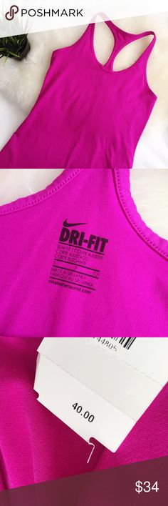 Nike Dry-fit Racerback workout tank small NWT NWT no flaws. Super soft brushed moisture wicking fabric. No trades, no 🅿️🅿️. Reasonable offers considered. Nike Tops Tank Tops