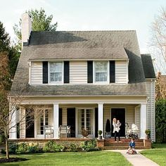 new englander house shutters porch | exterior paint