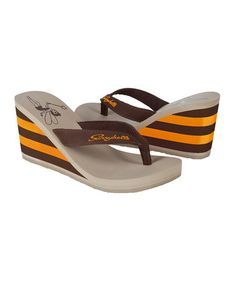 Take a look at this Chocolate High Society Flip-Flop by Sunnybelle on #zulily today!