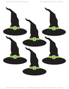 Halloween Straw Topper Printables