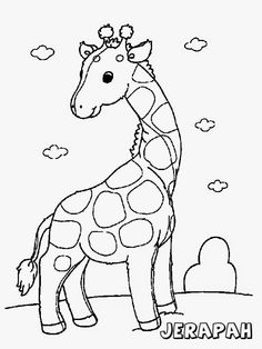 Printable giraffe coloring pages for kids Giraffe Coloring Pages, Farm Animal Coloring Pages, Cute Coloring Pages, Coloring Pages For Girls, Free Printable Coloring Pages, Coloring For Kids, Coloring Books, Adult Coloring, Coloring Sheets