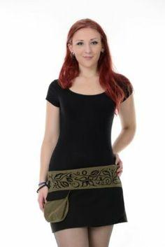 Mini Skirt wrap Black Magic Forest Green Designed Handmade - Gothic goa Style - Plus Size Fashion Magic Forest, Plus Size Fashion, Mini Skirts, Casual, Green, Stuff To Buy, Shopping, Black, Dresses
