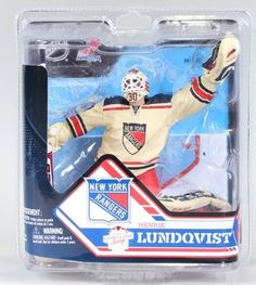 Henrik Lundqvist New York Rangers McFarlane NHL Series 32 Action Figure by McFarlane. $19.00. The detail on this figure is great!. Gold medal-winning goalie for the 2006 Swedish Olympic team, Henrik Lundqvist has been faithfully recreated here in 6-inch action figure form! This NHL Series 32 Henrik Lundqvist Action Figure from McFarlane Toys shows the goalie standing strong and repping his white with blue and red New York Rangers jersey.. Repping his white with red an...