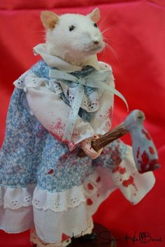 Lizzie Borden Taxidermy Rat Doll Oddities One of a Kind Horror Collectors on Etsy, $120.00