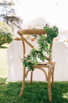 Mixed foliage chair back X