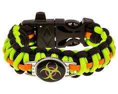 Zombie Paracord Bracelet - Biohazard (Survival Kit Series) Emergency Gear for Hiking, Camping, Climbing and other Outdoor Sports or Just Fun * Click image to review more details.