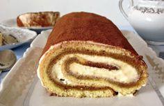 Biscuit roulé façon tiramisu au Thermomix, un délicieux gâteau roulé avec le bon goût de tiramisu, facile et simple à réaliser pour un dessert gourmand.