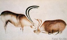 Paleolithic - Male and female deer, Magdalenian school, c.13000 BC