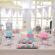 diy decoration idea for a joint baby shower or a baby shower for boy