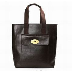 6f493bb59f Stylish Mulberry 7467 Tote Pebbled Leather Bag dark Coffee
