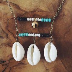 U B U N T U - Two Tier Tribal Cowry Shell Necklace