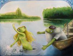 Kia-Maria Aho Oilpainting on canvas Aino ja Väinämöinen