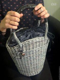 """Сумки и аксессуары ручной работы. Ярмарка Мастеров - ручная работа. Купить сумочка плетеная """"Милена"""". Handmade. Серый, бумага"""