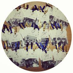 「二次会エスコートカード( ¨̮ )❥❥ ゲストそれぞれと写っている写真を使って作りました♡ 裏にメッセージを書いて、ツリーに吊り下げる予定(*˙˘˙) #プレ花嫁 #二次会 #エスコートカード」