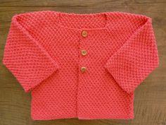 Chaqueta de niña coral/ 100 algodón/ ropa de bebe/ por Pentapolin