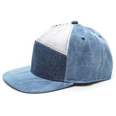 So Jean-ius Denim Patchwork Cap BLUEMULTI ($9.62) ❤ liked on Polyvore featuring accessories, hats, multi, adjustable cap, adjustable snapback hats, 5-panel cap, denim cap and cap snapback