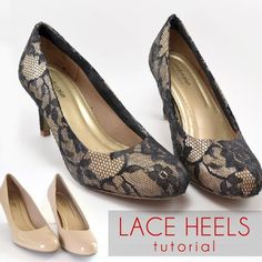 DIY Shoes : DIY Shoe Makeover: Lace Heels