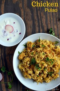 Chicken Pulao - Basmati Rice with Chicken and Spices | Gluten Free Indian www.cookingcurrie...