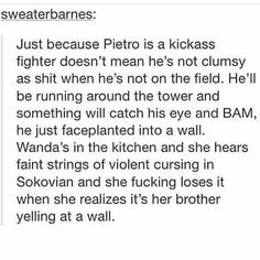 I love how we're all making these imagines like Pietro never really got hit by a bunch of bullets *goes and sobs in the corner*