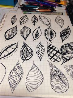 Zentangle leaf shapes - LZ