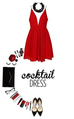 """""""Cocktail Dress   27 Feb 2016"""" by kristinksn ❤ liked on Polyvore featuring Ally Fashion, Jimmy Choo, Furla, First People First, NARS Cosmetics, Smashbox, Rimmel, Clinique, Marc Jacobs and Givenchy"""