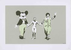 Banksy (British, born 1975) Napalm Screenprint in colours, 2004, on wove, signed, dated and numbered  25/150 in pencil, published by Pictures on Walls, London, with their blindstamp, the full sheet, 500 x 700mm (19 3/4 x 27 1/2in)(SH)