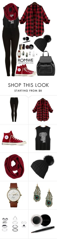 """""""Romwe 2"""" by amra-f ❤ liked on Polyvore featuring Topshop, Converse, prAna, Triwa, Kenneth Jay Lane, Mary Kay, Chanel, Fall, 1d and romwe"""