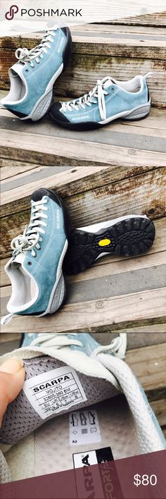 Scarpa Mojito Shoes Great for running Walking or Hiking shoes super comfortable! Like new worn Once Scarpa Shoes Athletic Shoes