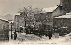 La rue des Saules et le Lapin Agile pendant l'hiver 1905  (Paris 18e)
