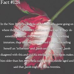 ~ I remember I heard of the Twilight books after I saw New Moon and my aunt told me that the ending in the movie is different than the ending in the book. Twilight also got me into reading. I've been reading lots of books after I read Twilight. {#twilightsaga#newmoon#bellaswan#jacobblack}
