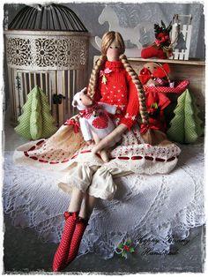 Tilda doll Textile doll Tilda doll with Lamb Christmas decor