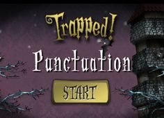 Trapped! Punctuation game is a super fun online game that provides great practice in punctuation skills.