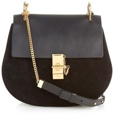 Chloé Drew medium leather and suede shoulder bag