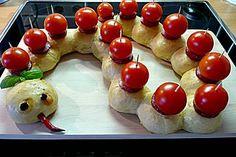 Brötchenwurm für z.B. KiGa-Frühstück