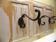 Old cabinet door repurposed